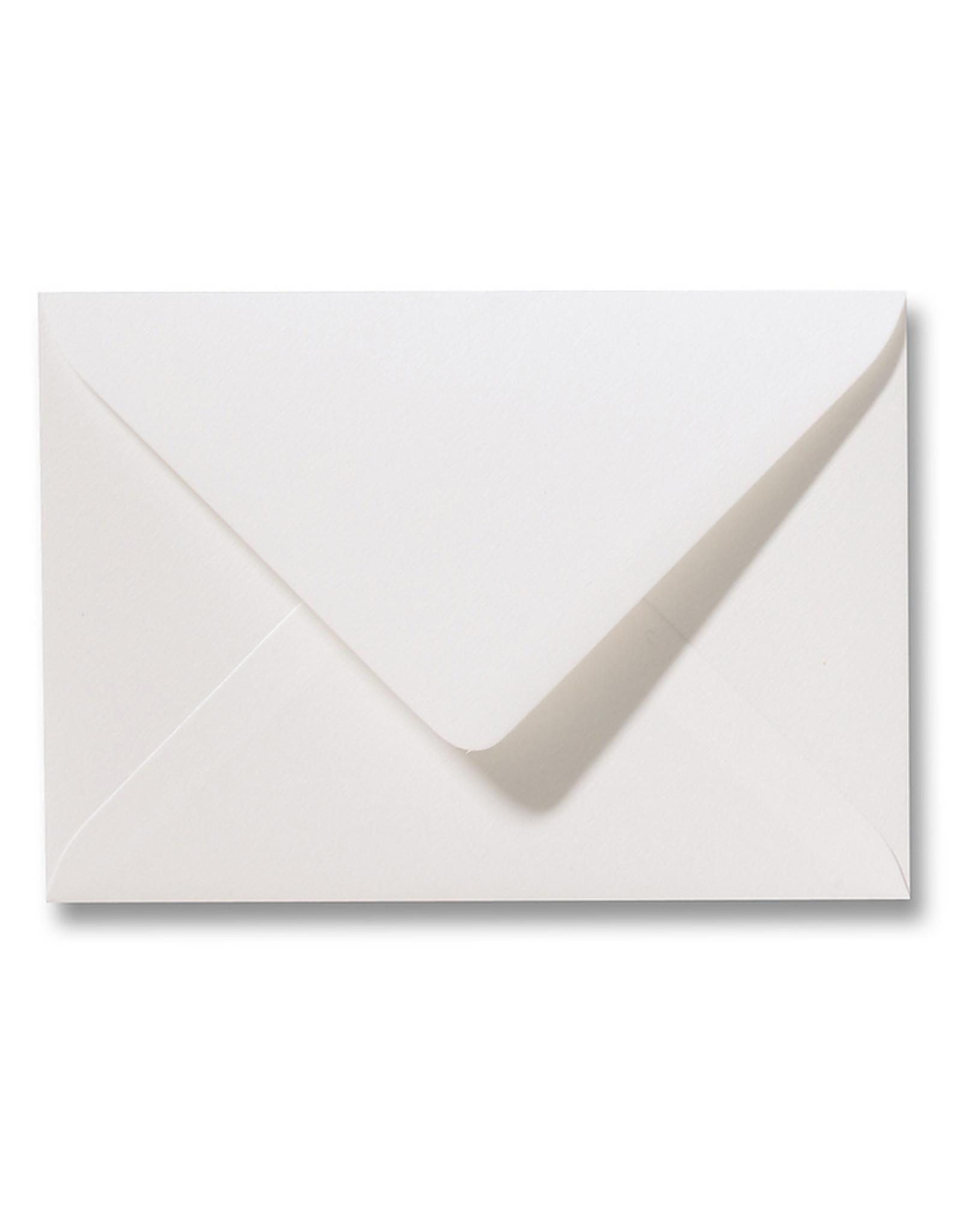 www.Robin.cards Blanco structuur envelop  Naturelle