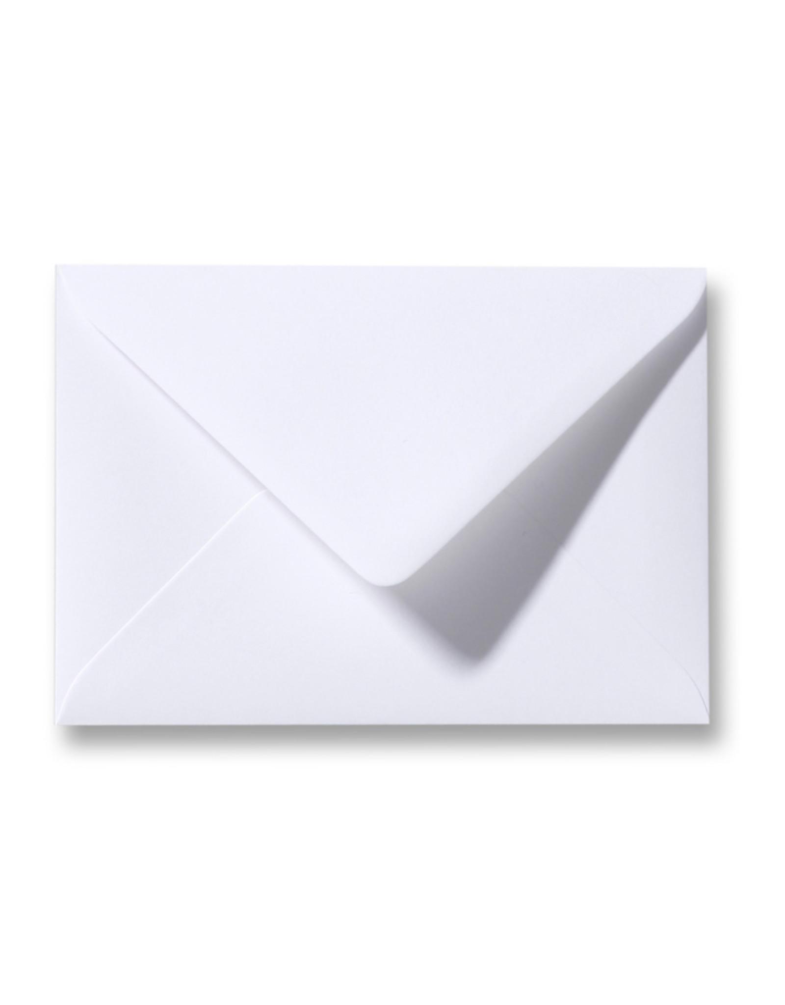 www.Robin.cards Blanco effen envelop  Wit