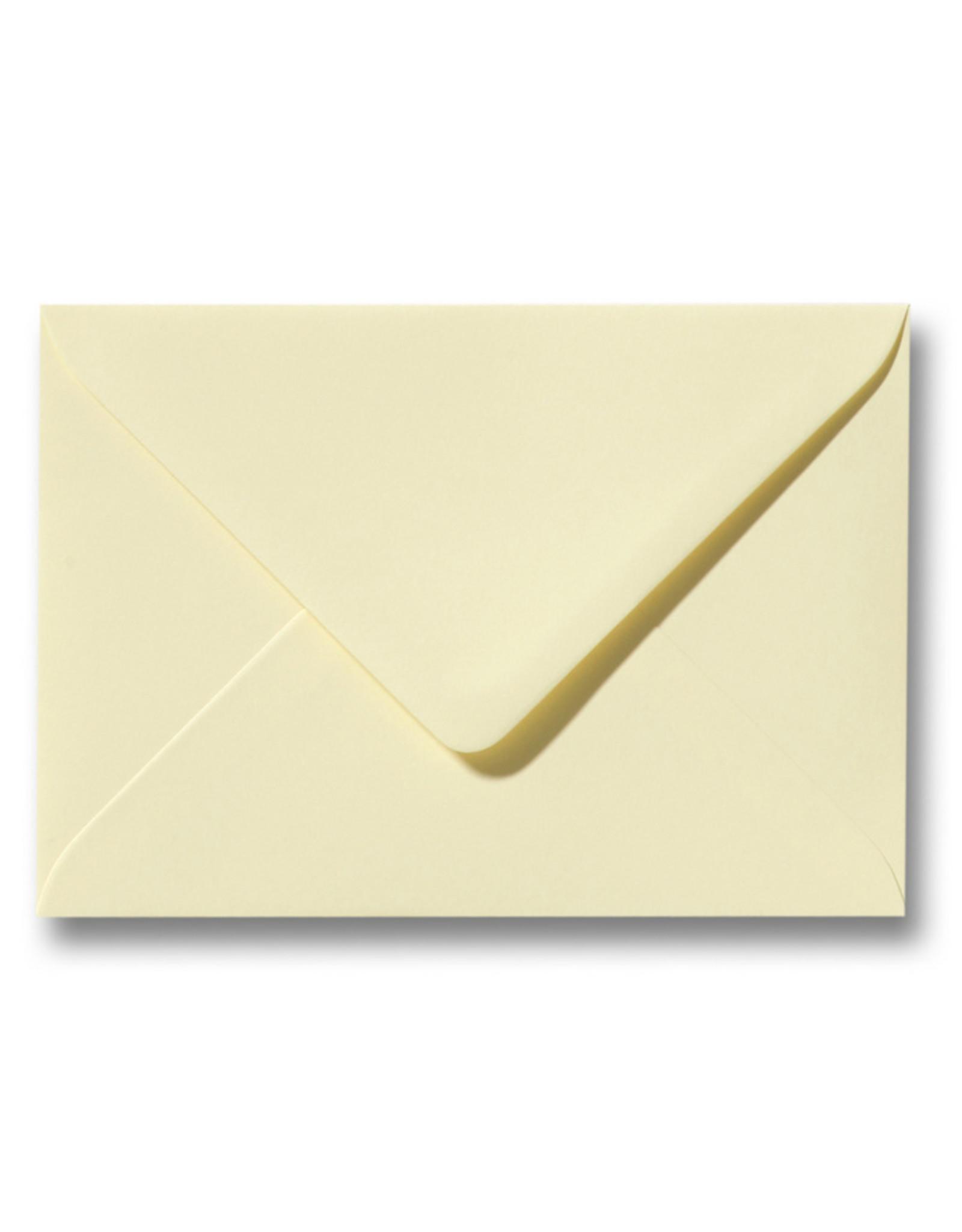 www.Robin.cards Blanco effen envelop Zachtgeel