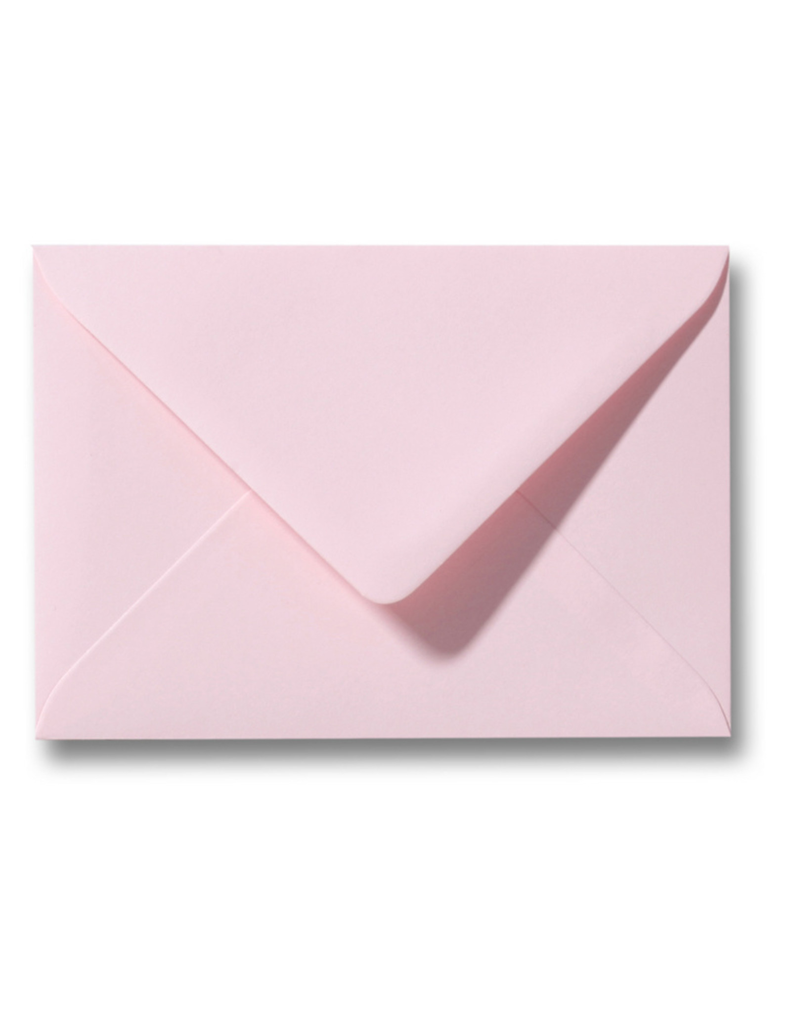 www.Robin.cards Blanco effen envelop Lichtroze