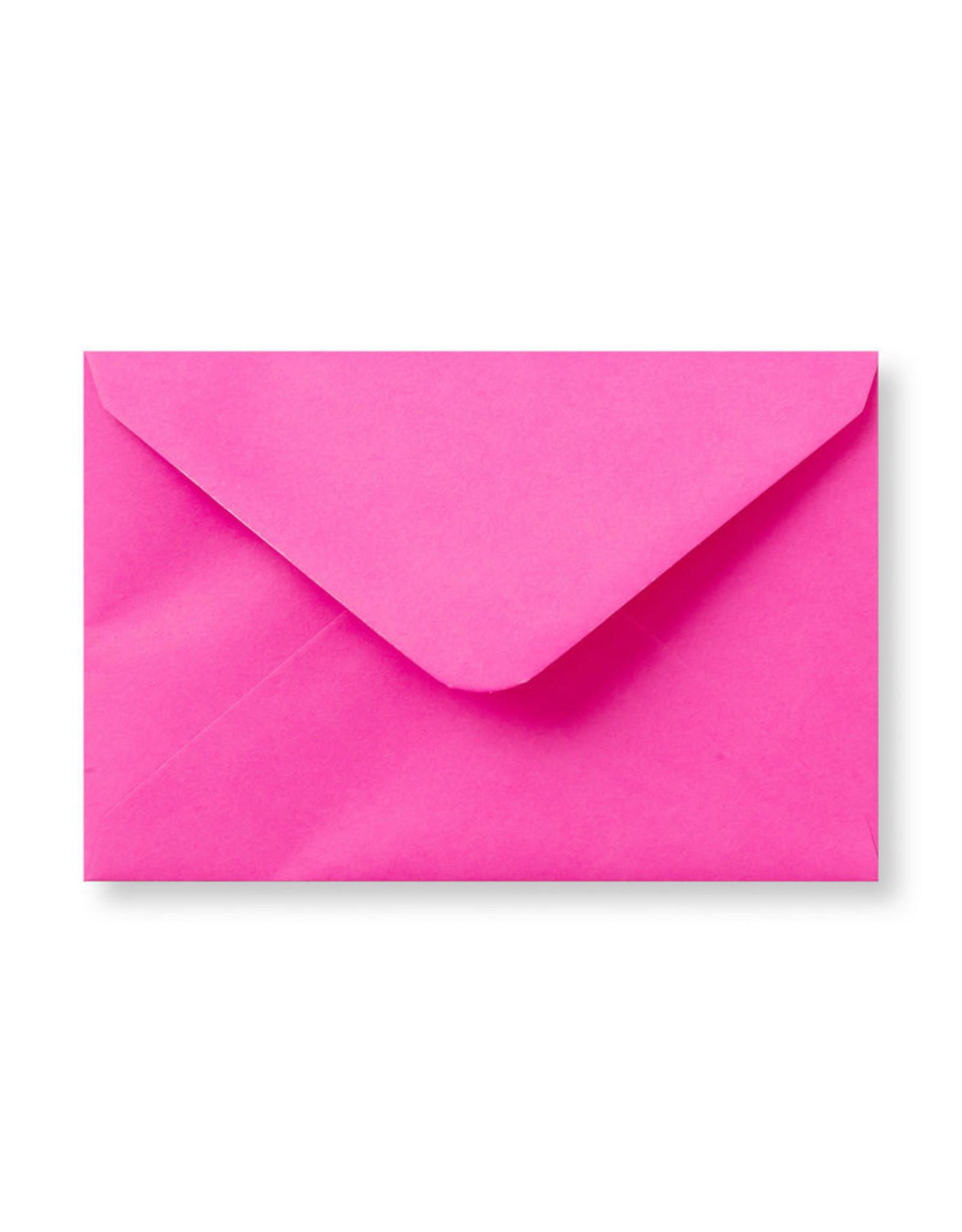 www.Robin.cards Blanco effen envelop Felroze