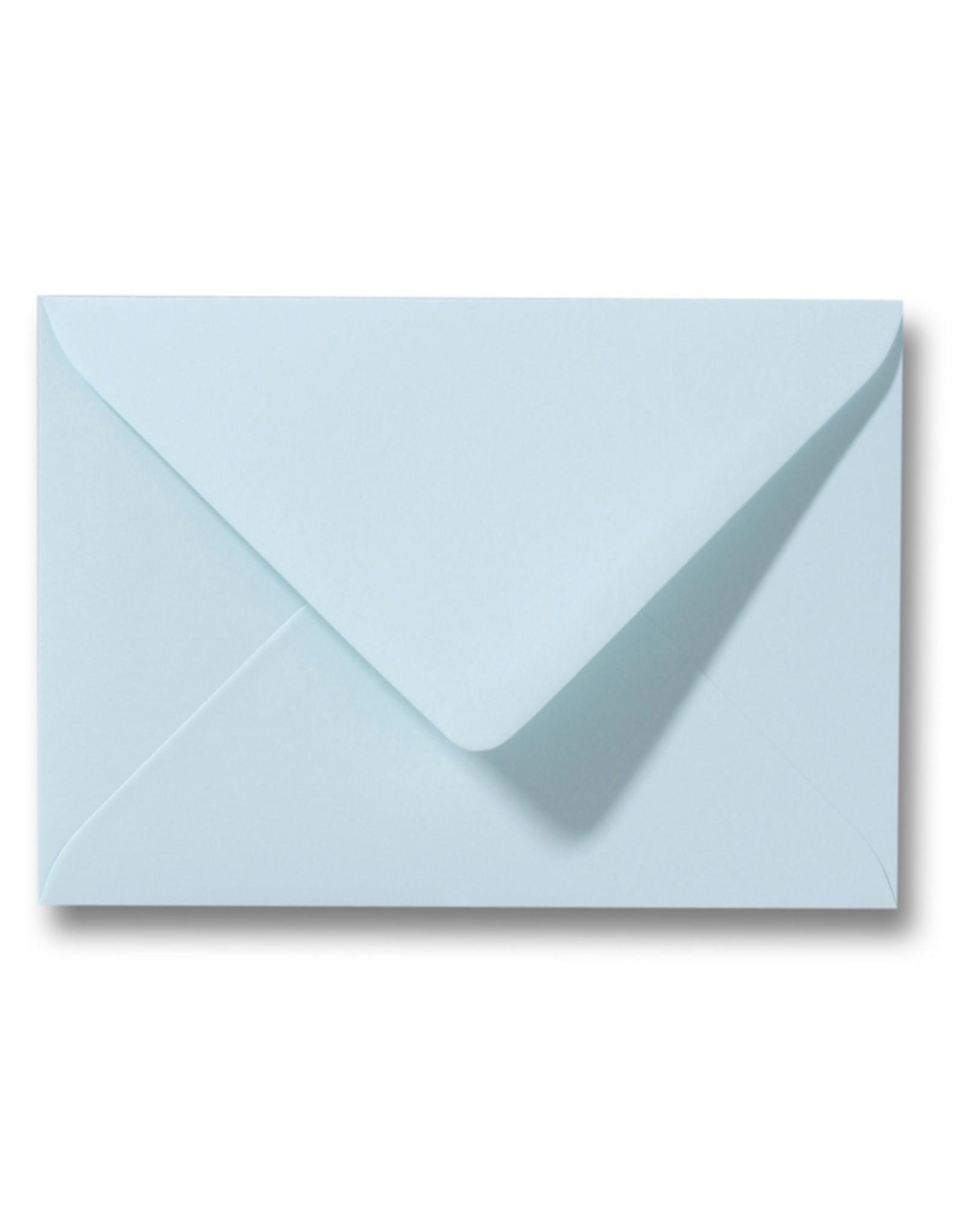 www.Robin.cards Blanco effen envelop Lichtblauw