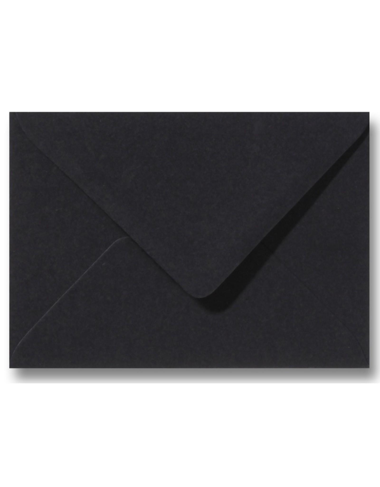 www.Robin.cards Blanco effen envelop Zwart