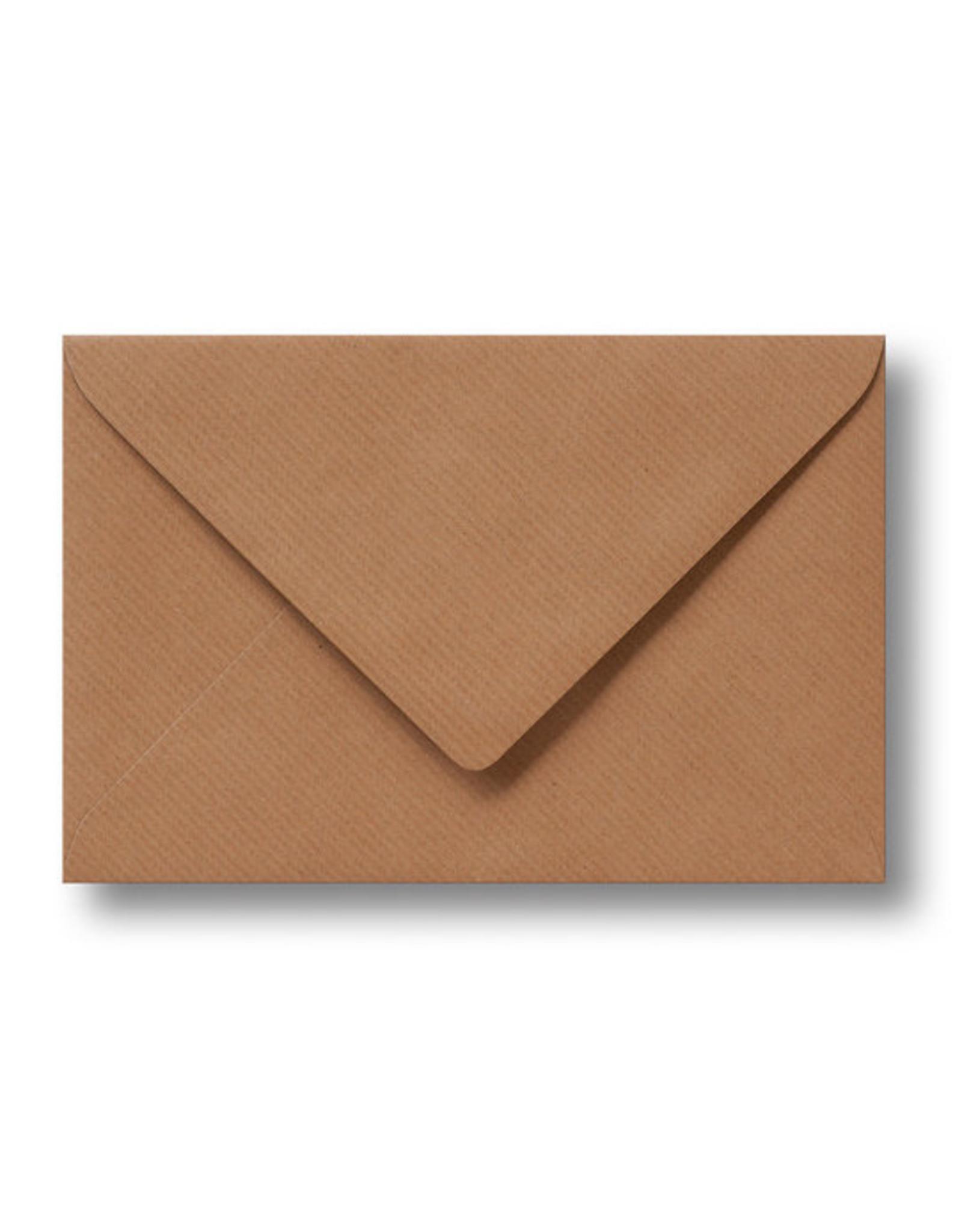www.Robin.cards Blanco effen envelop Kraft