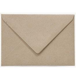 www.Robin.cards Blanco effen envelop Grijskarton