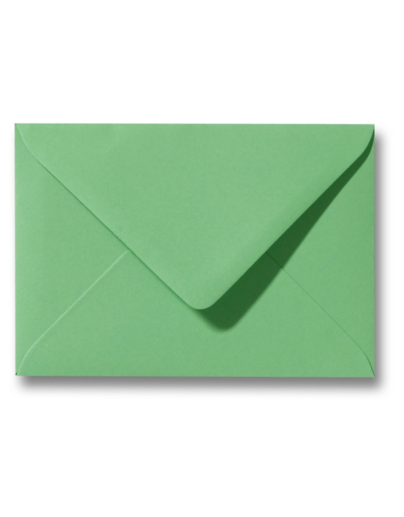 www.Robin.cards Blanco effen envelop  Lentegroen