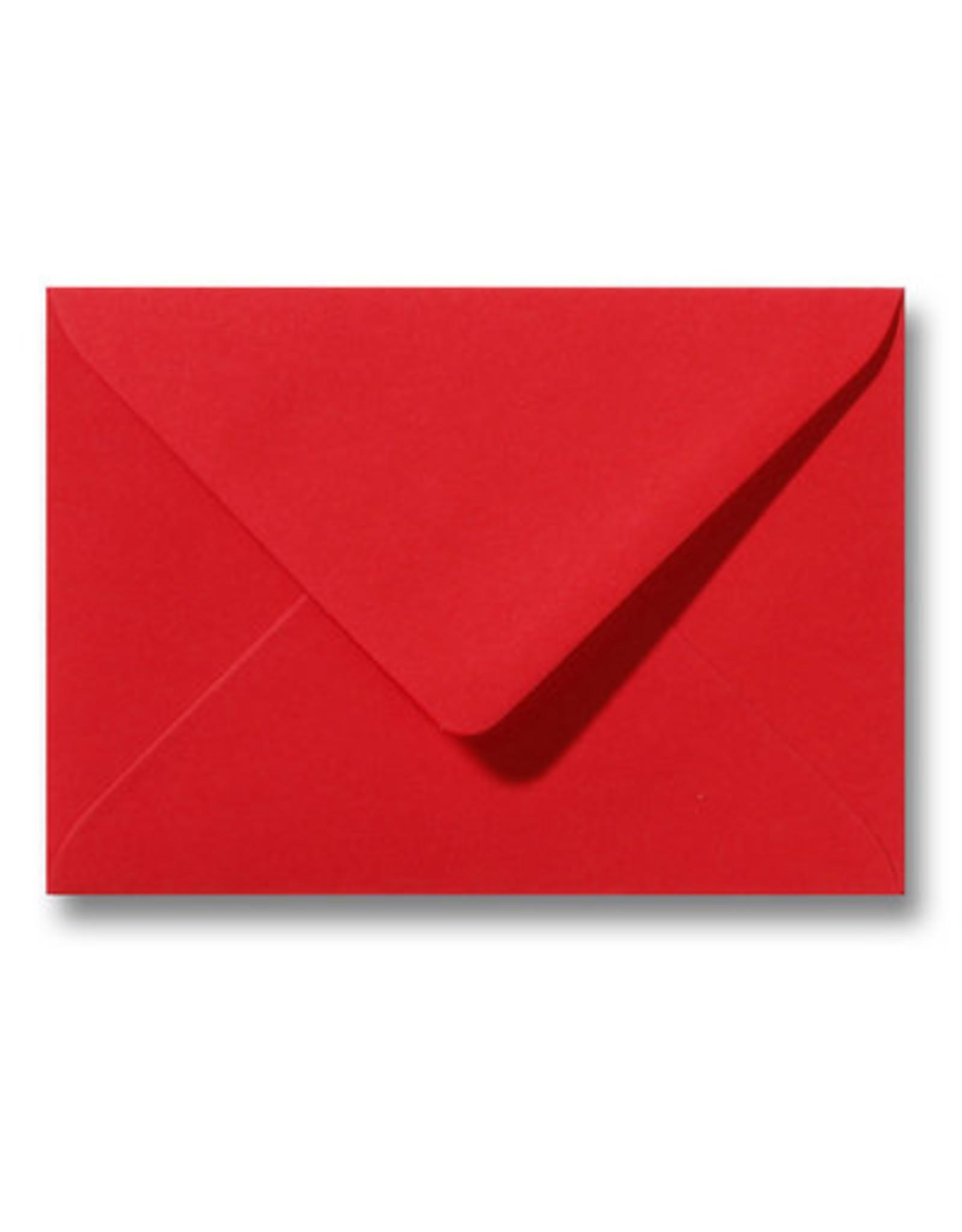 www.Robin.cards Blanco effen envelop Pioenrood