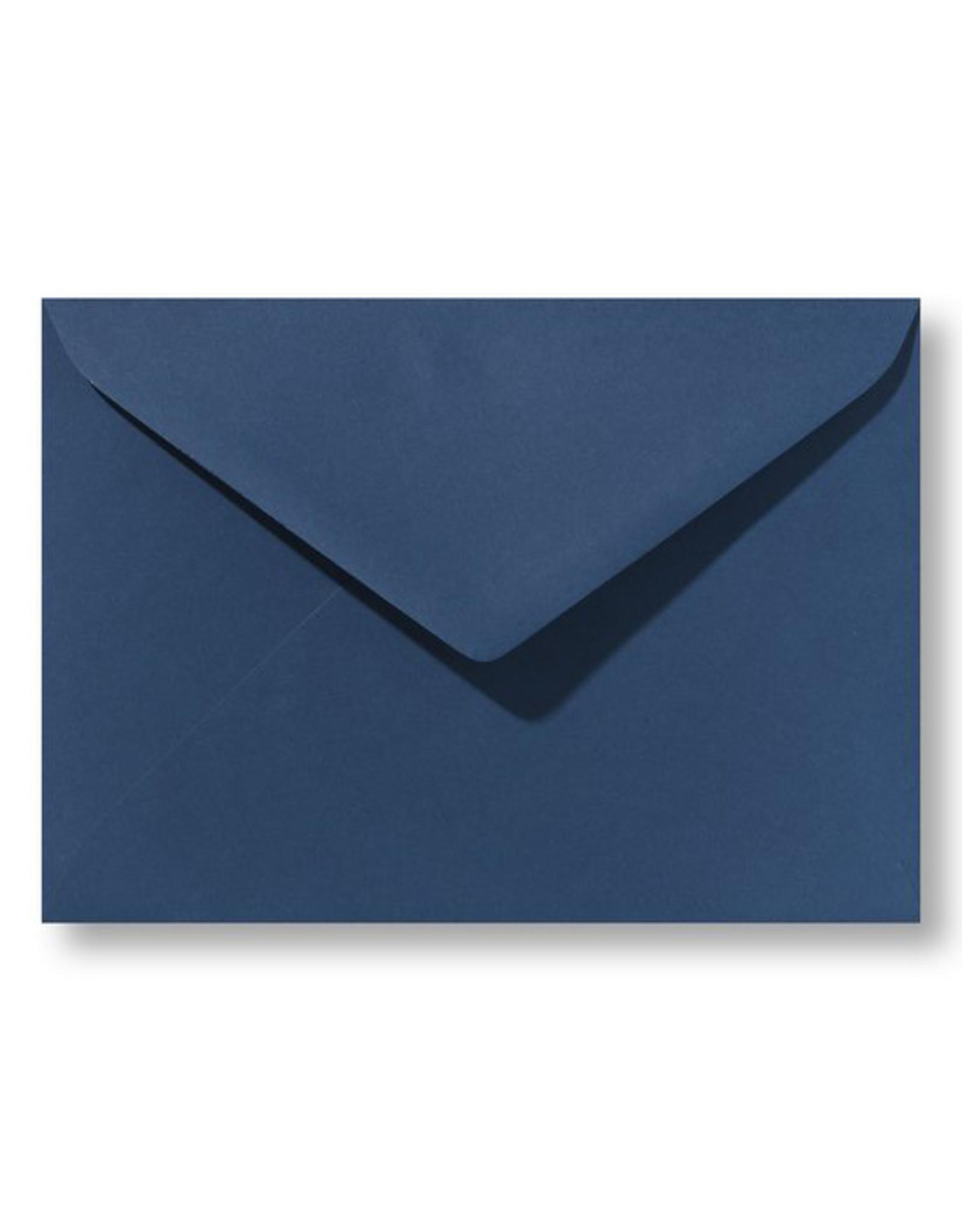 www.Robin.cards Blanco effen envelop Donkerblauw