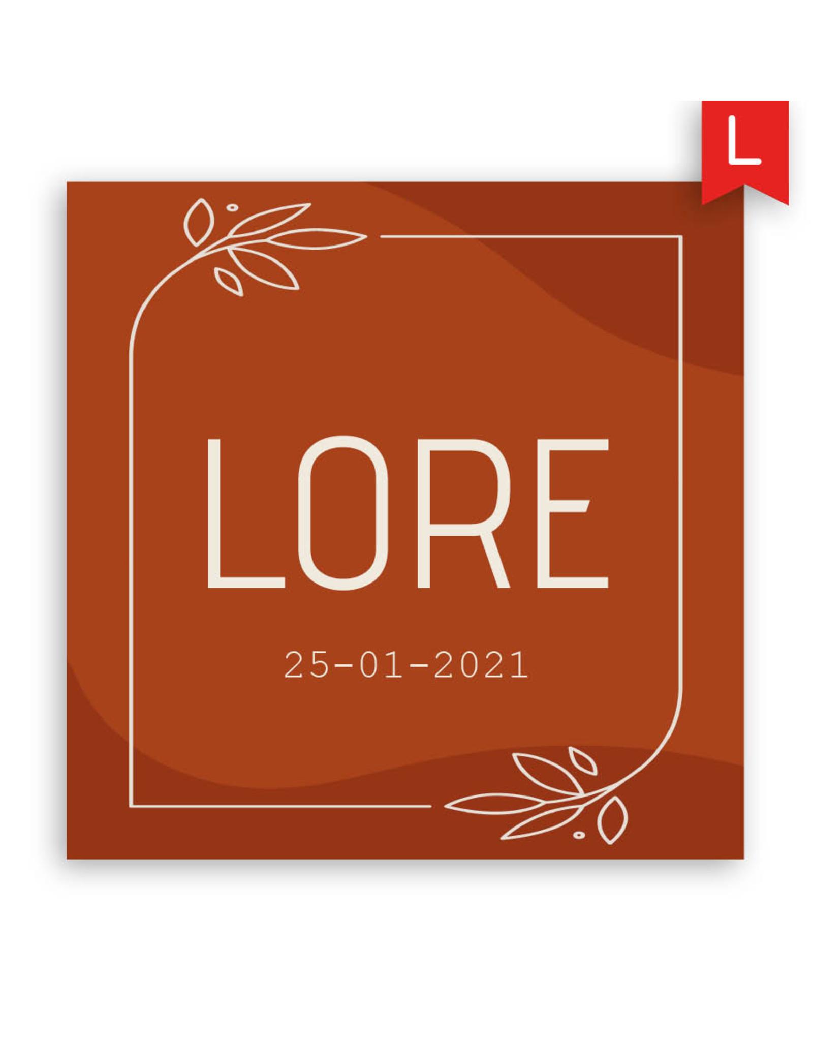 www.Robin.cards Geboortekaartje luxe enkel vierkant LORE