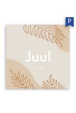 www.Robin.cards Geboortekaartje premium enkel vierkant JUUL
