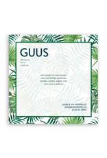 www.Robin.cards Geboortekaartje premium enkel vierkant GUUS