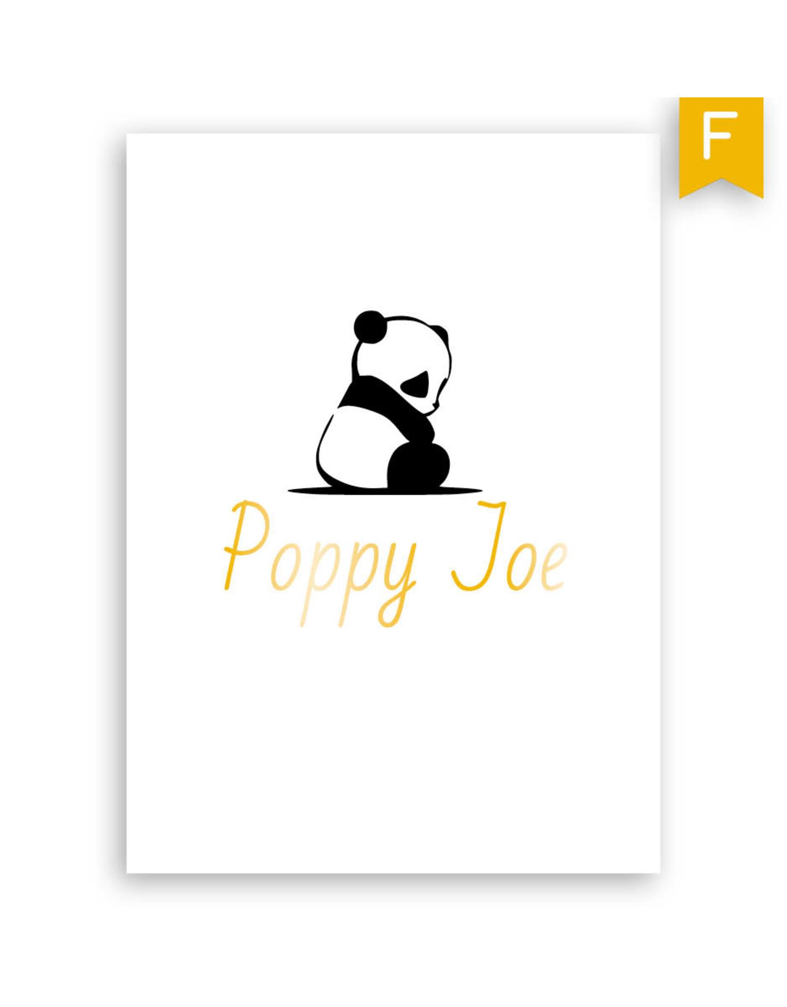 www.Robin.cards Geboortekaartje foliedruk enkel rechthoek POPPY
