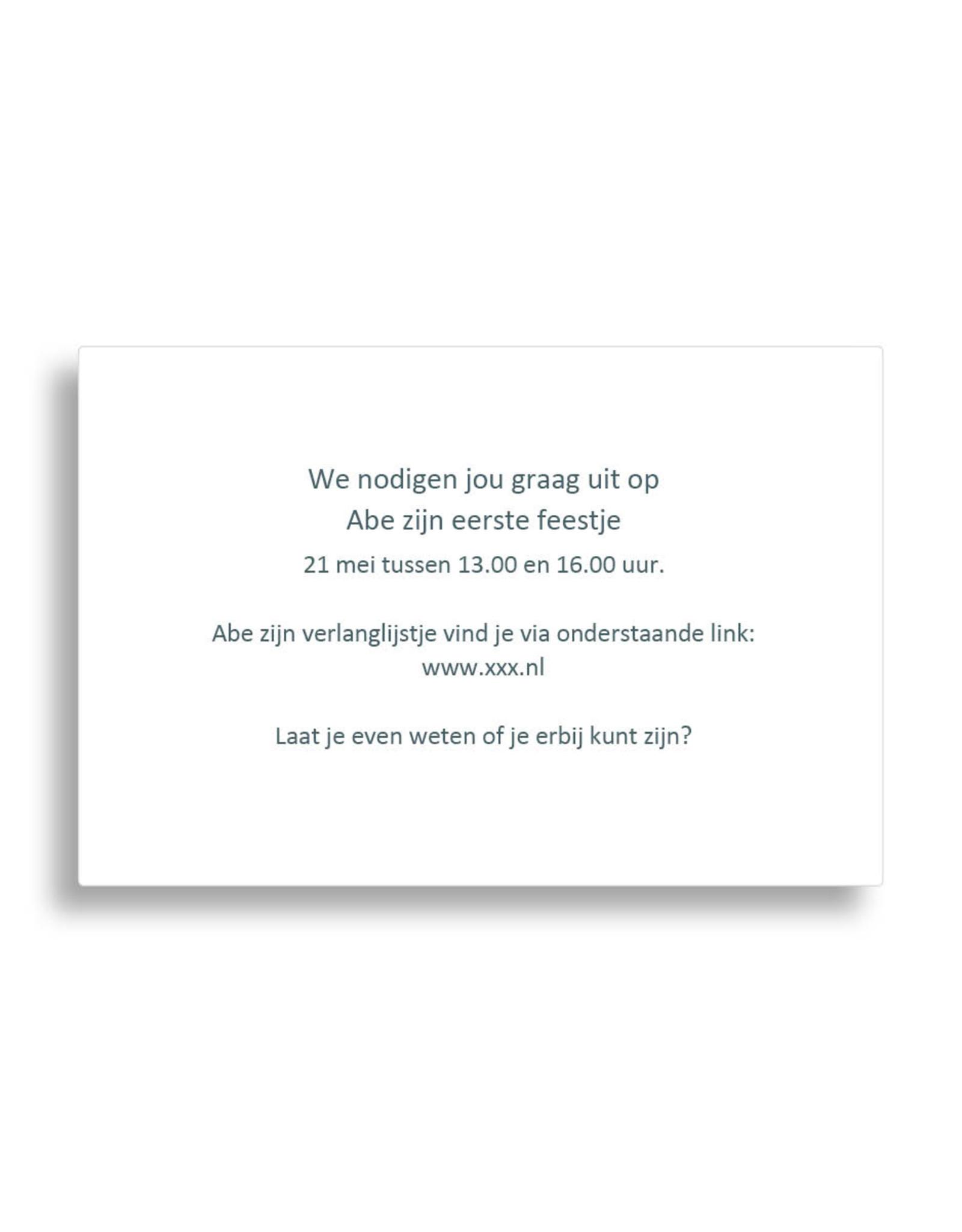 www.Robin.cards Babyborrel foliedruk rechthoek ABE