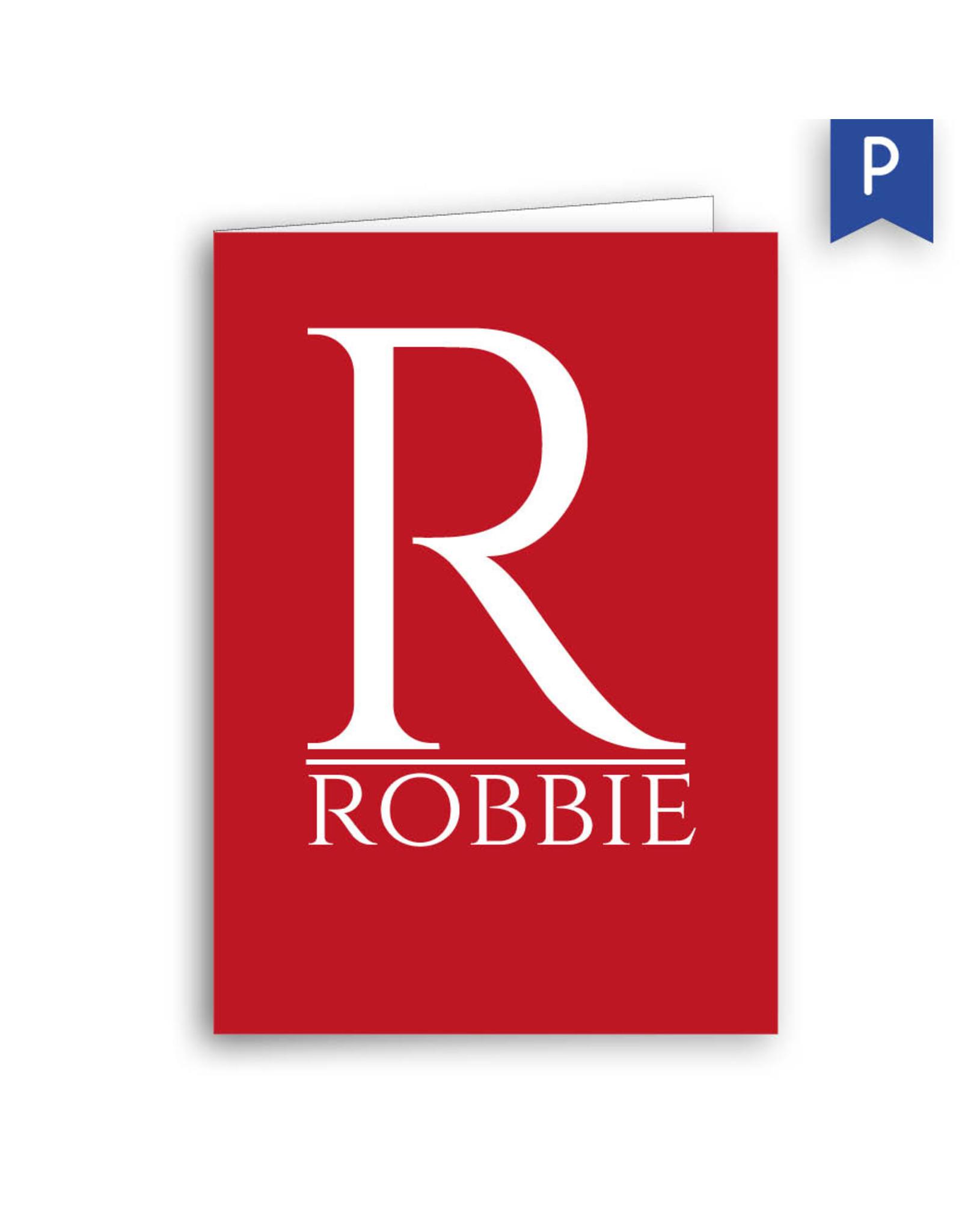 www.Robin.cards Geboortekaartje premium gevouwen rechthoek ROBBIE