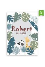 www.Robin.cards Geboortekaartje gratis enkel rechthoek ROBERT