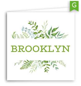 www.Robin.cards Geboortekaartje gratis gevouwen vierkant BROOKLYN