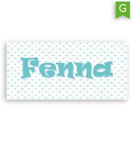 www.Robin.cards Geboortekaartje gratis enkel lang FENNA