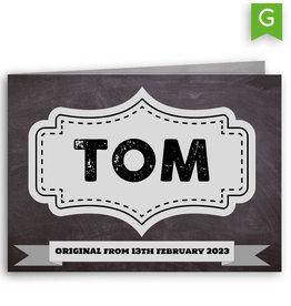www.Robin.cards Geboortekaartje gratis gevouwen rechthoek TOM
