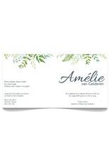 www.Robin.cards Geboortekaartje luxe vierkant gevouwen AMELIE