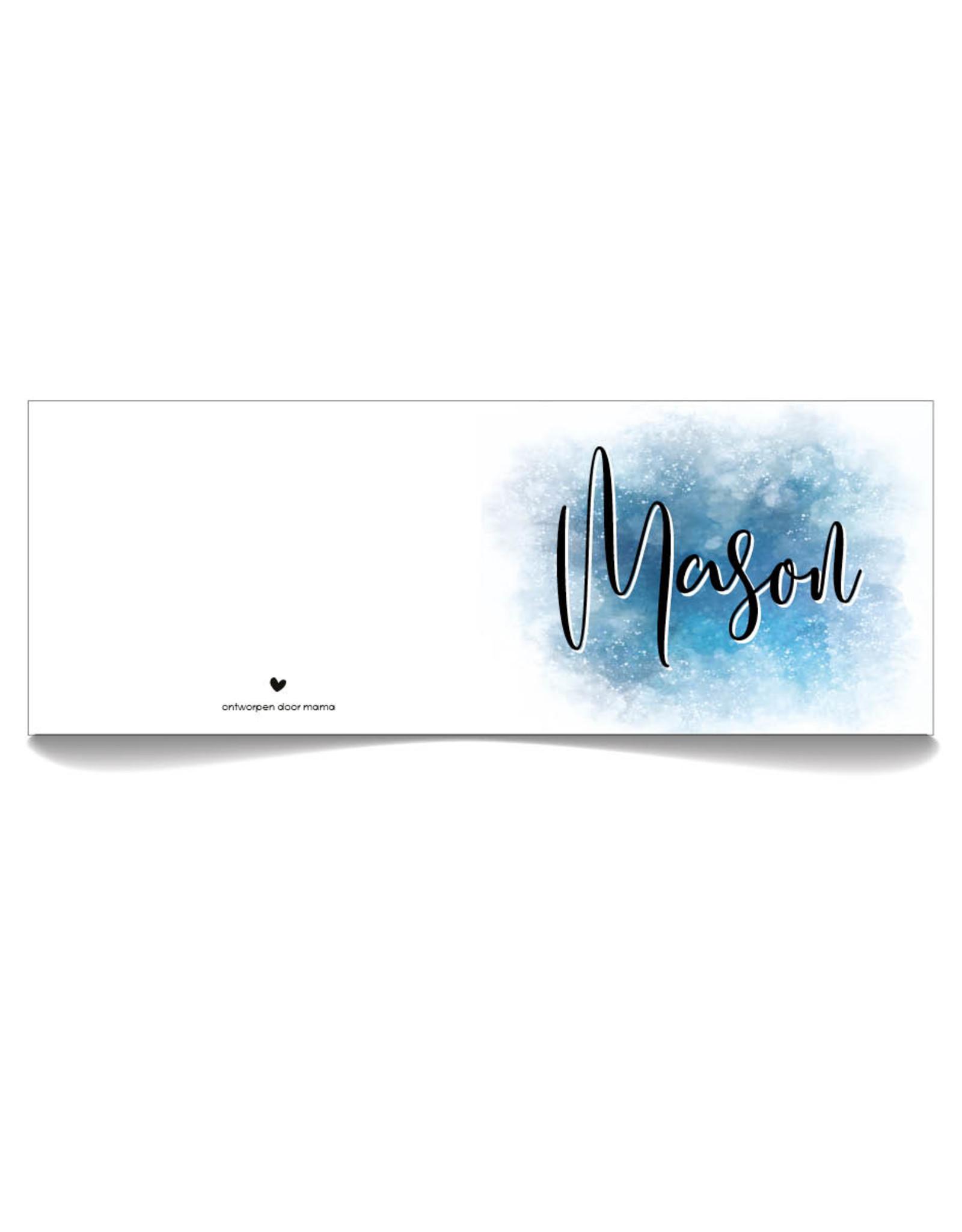 www.Robin.cards Geboortekaartje luxe rechthoek gevouwen MASON