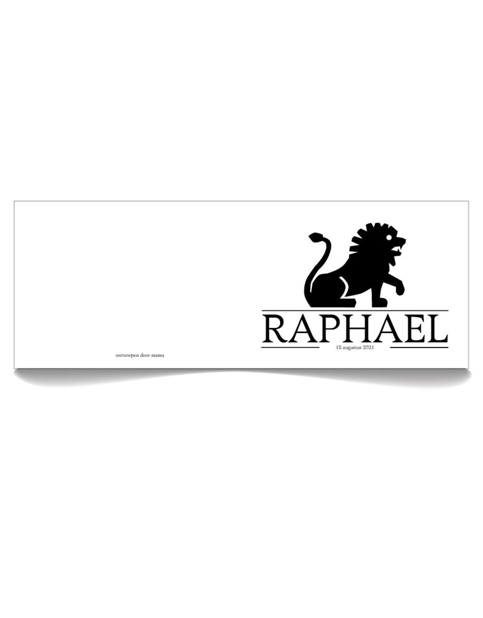 www.Robin.cards Geboortekaartje premium gevouwen rechthoek RAPHAEL