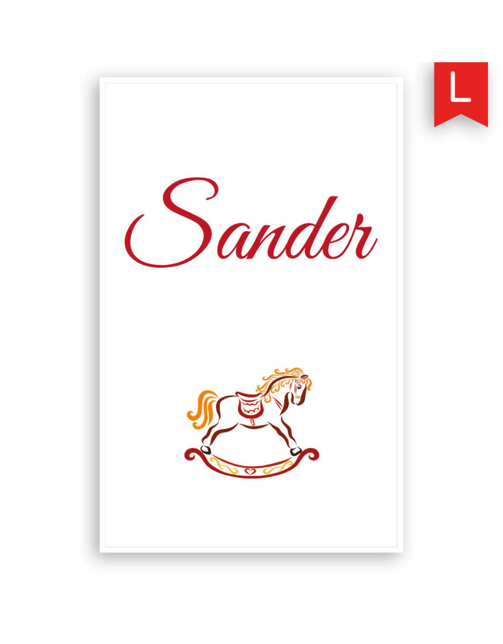 www.Robin.cards Geboortekaartje Oud Hollands enkel SANDER