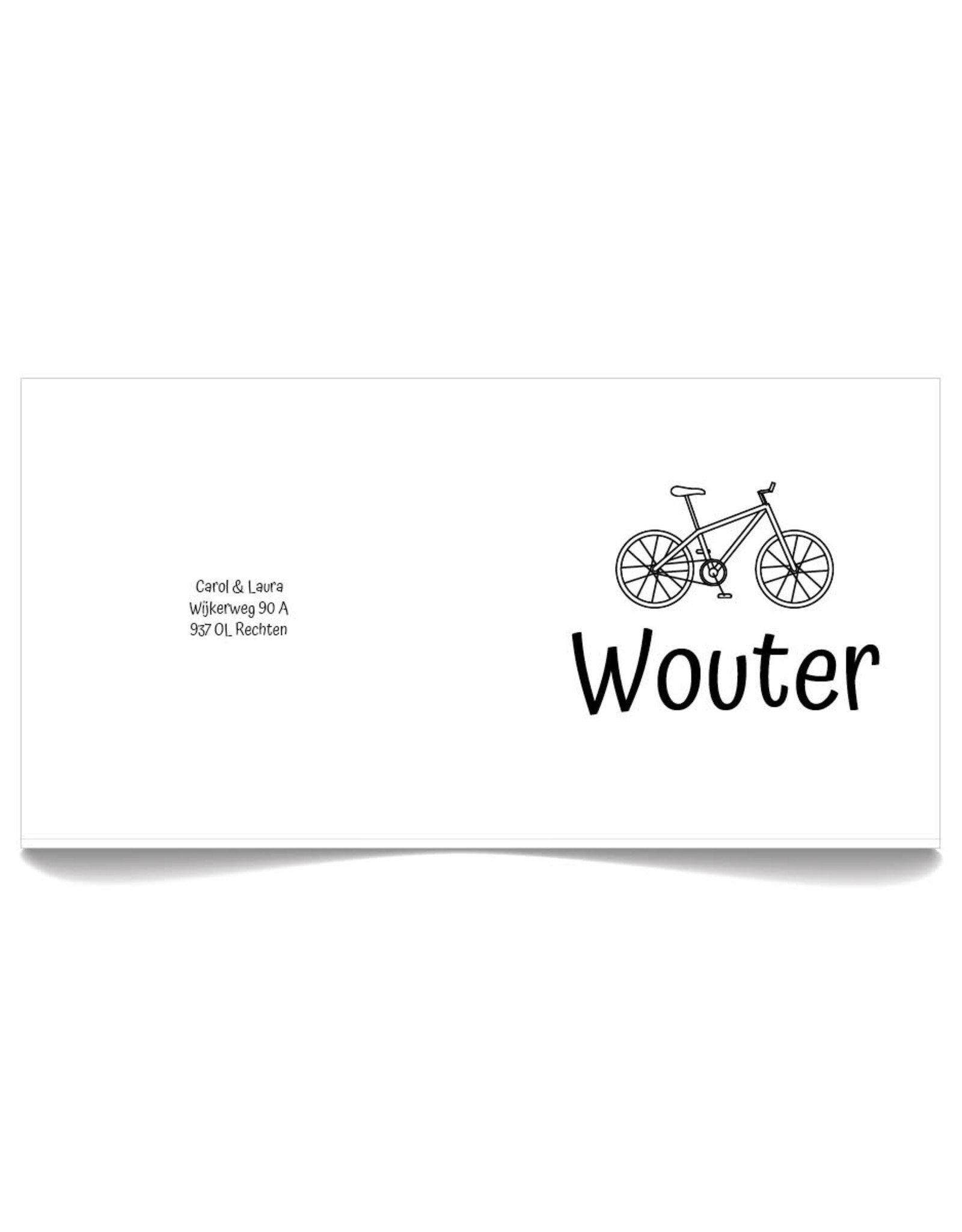www.Robin.cards Geboortekaartje Oud Hollands gevouwen WOUTER