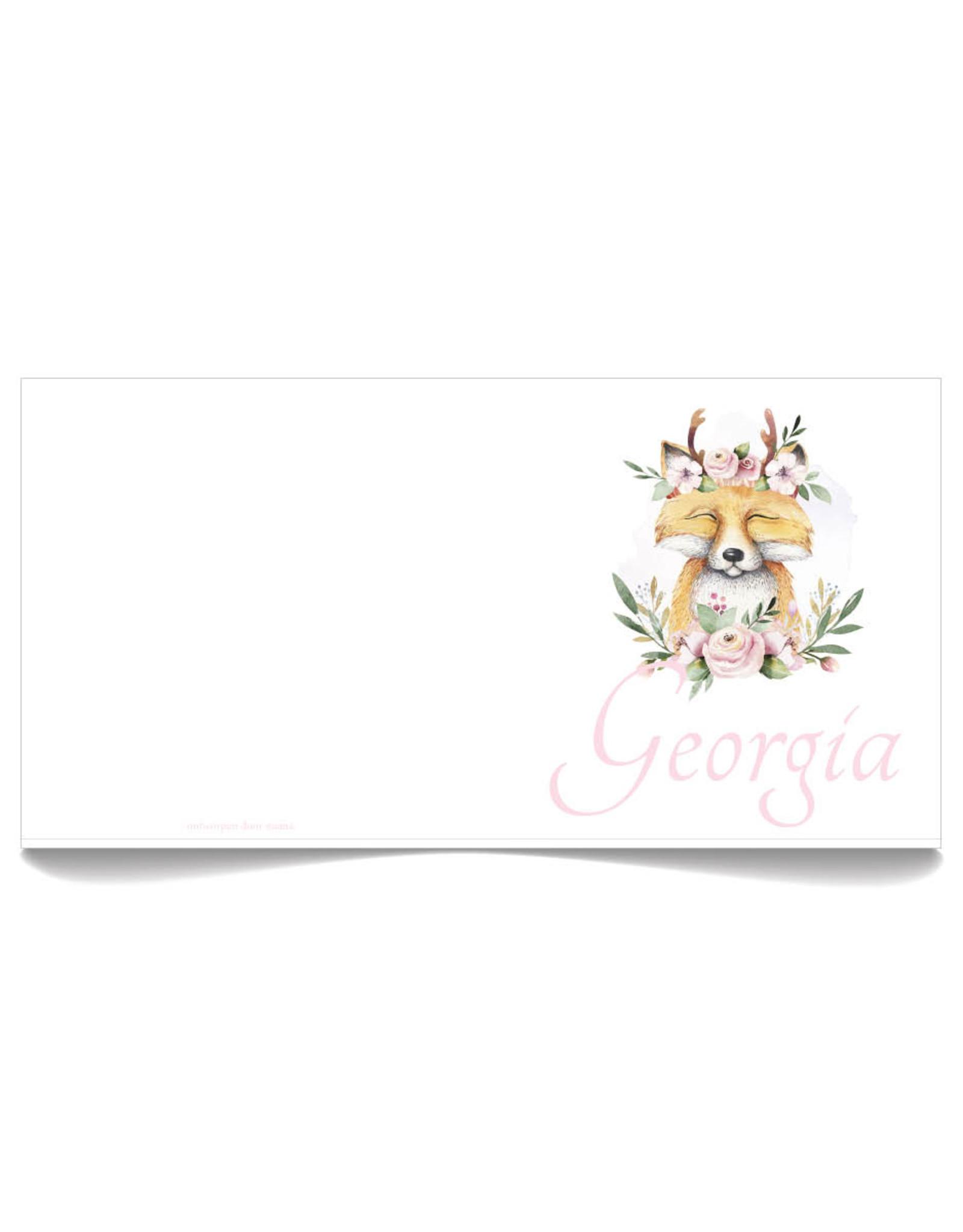 www.Robin.cards Geboortekaartje Oud Hollands gevouwen GEORGIA