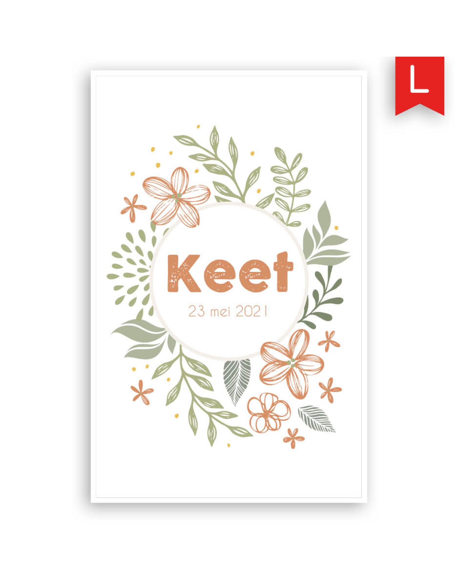 www.Robin.cards Geboortekaartje Oud Hollands enkel KEET