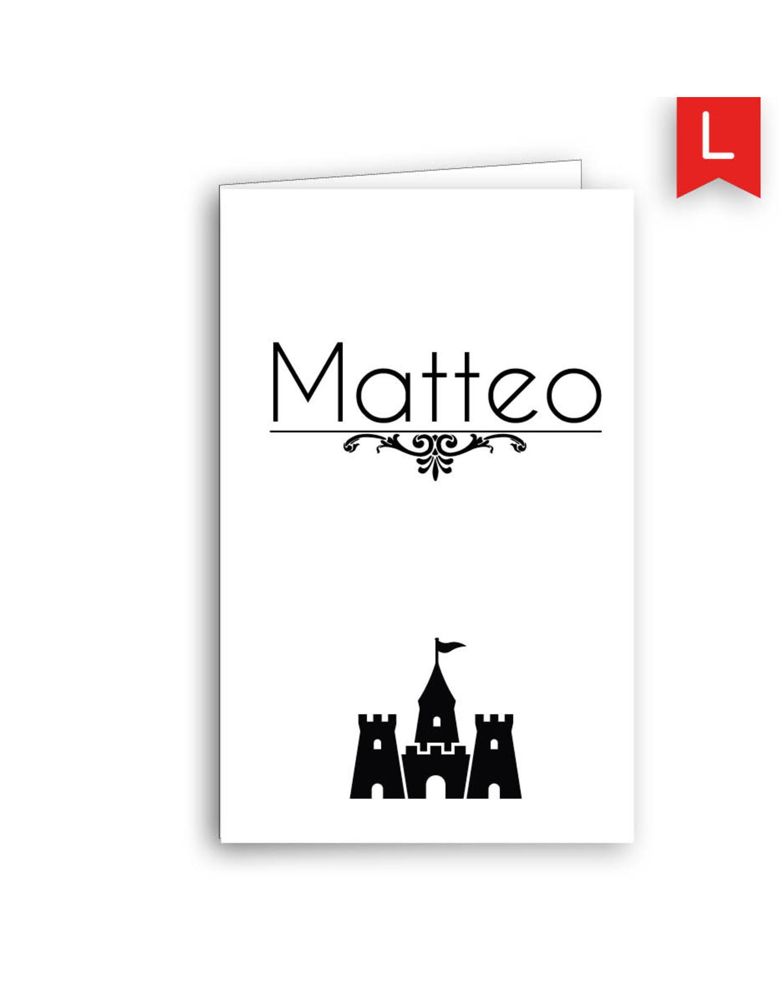 www.Robin.cards Geboortekaartje Oud Hollands gevouwen MATTEO