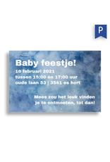 www.Robin.cards Babyborrel enkel rechthoek MEES