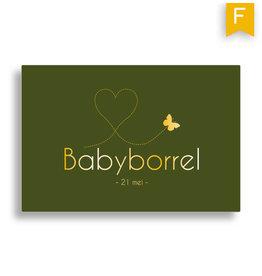 www.Robin.cards Babyborrel foliedruk rechthoek FERRIE
