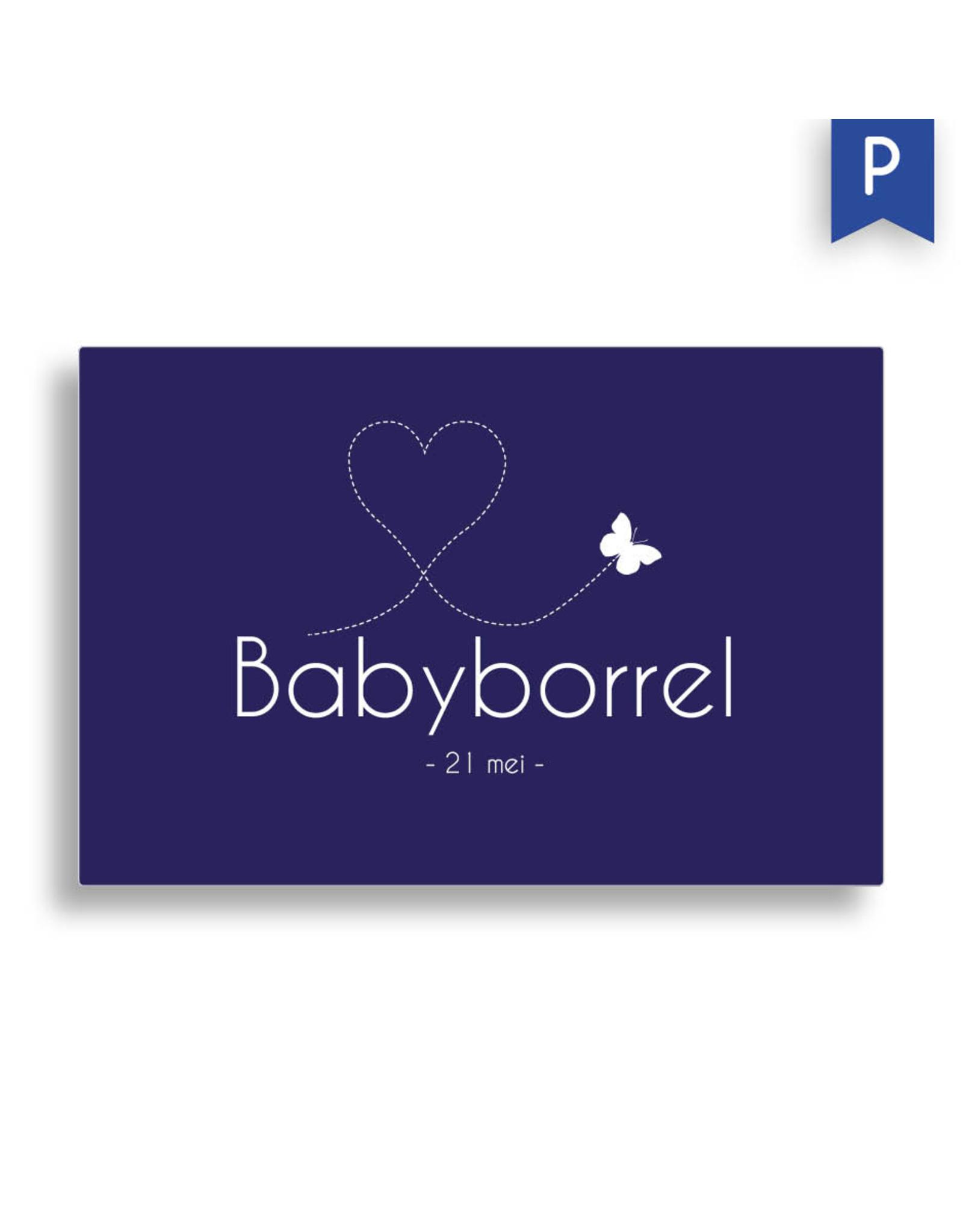 www.Robin.cards Babyborrel enkel rechthoek PEPIJN