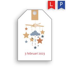 www.Robin.cards Label geboortekaartje NINA