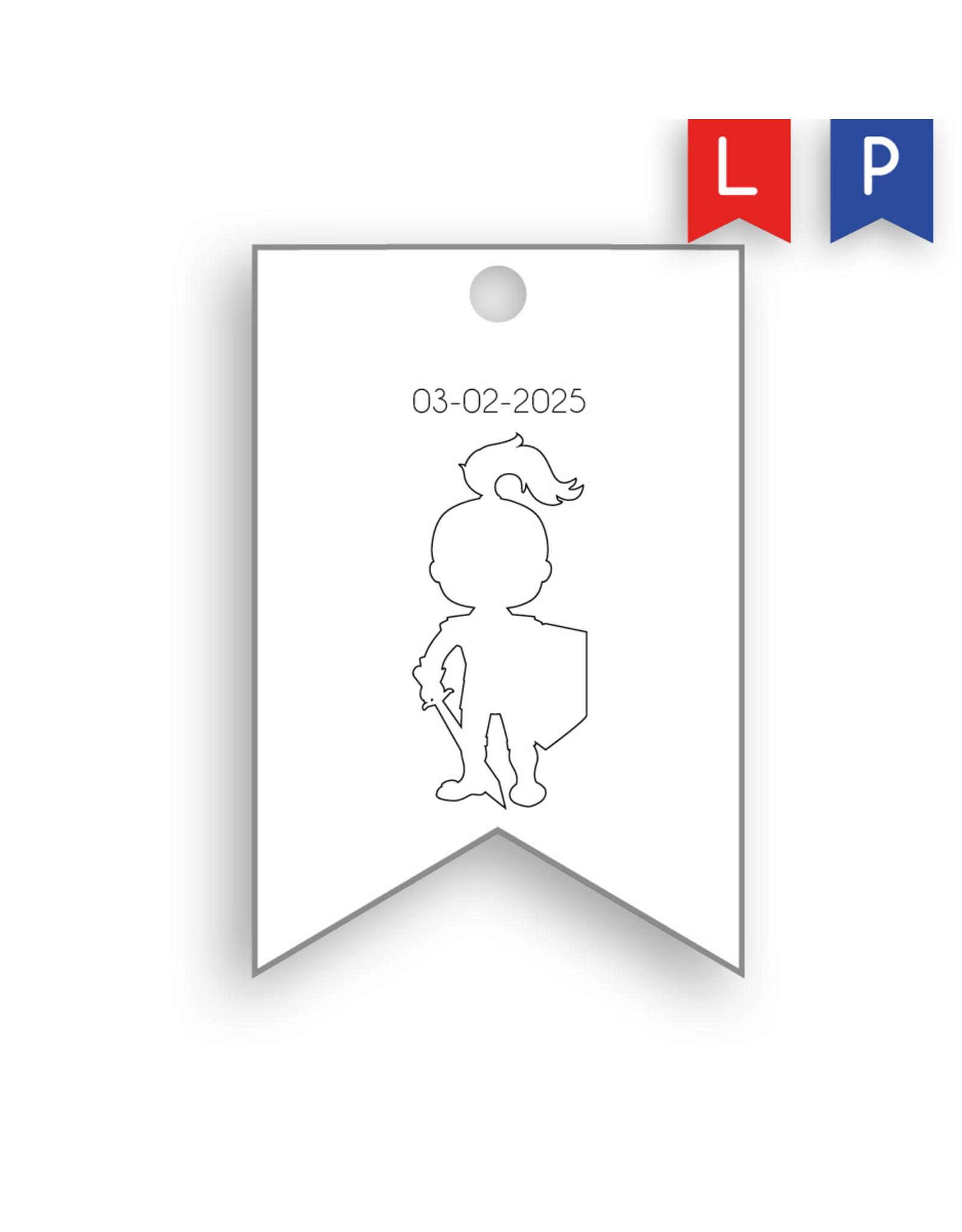 www.Robin.cards Label geboortekaartje WILLEM