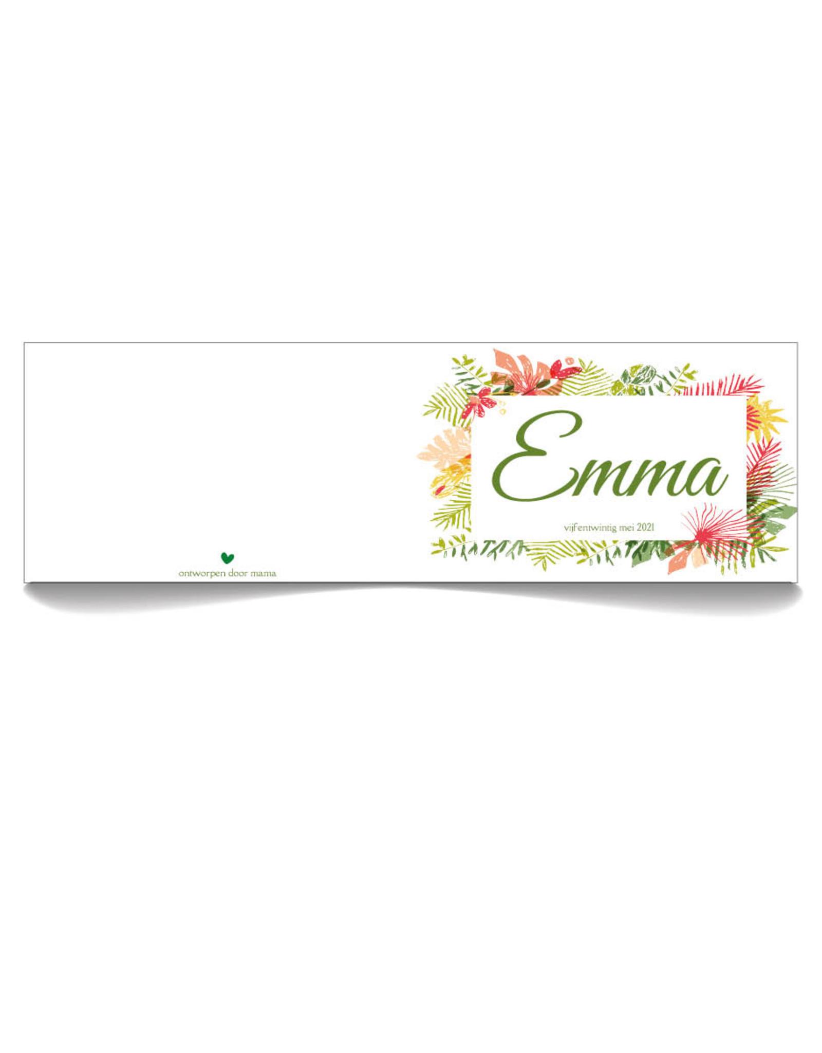 www.Robin.cards Geboortekaartje Oud Hollands gevouwen EMMA