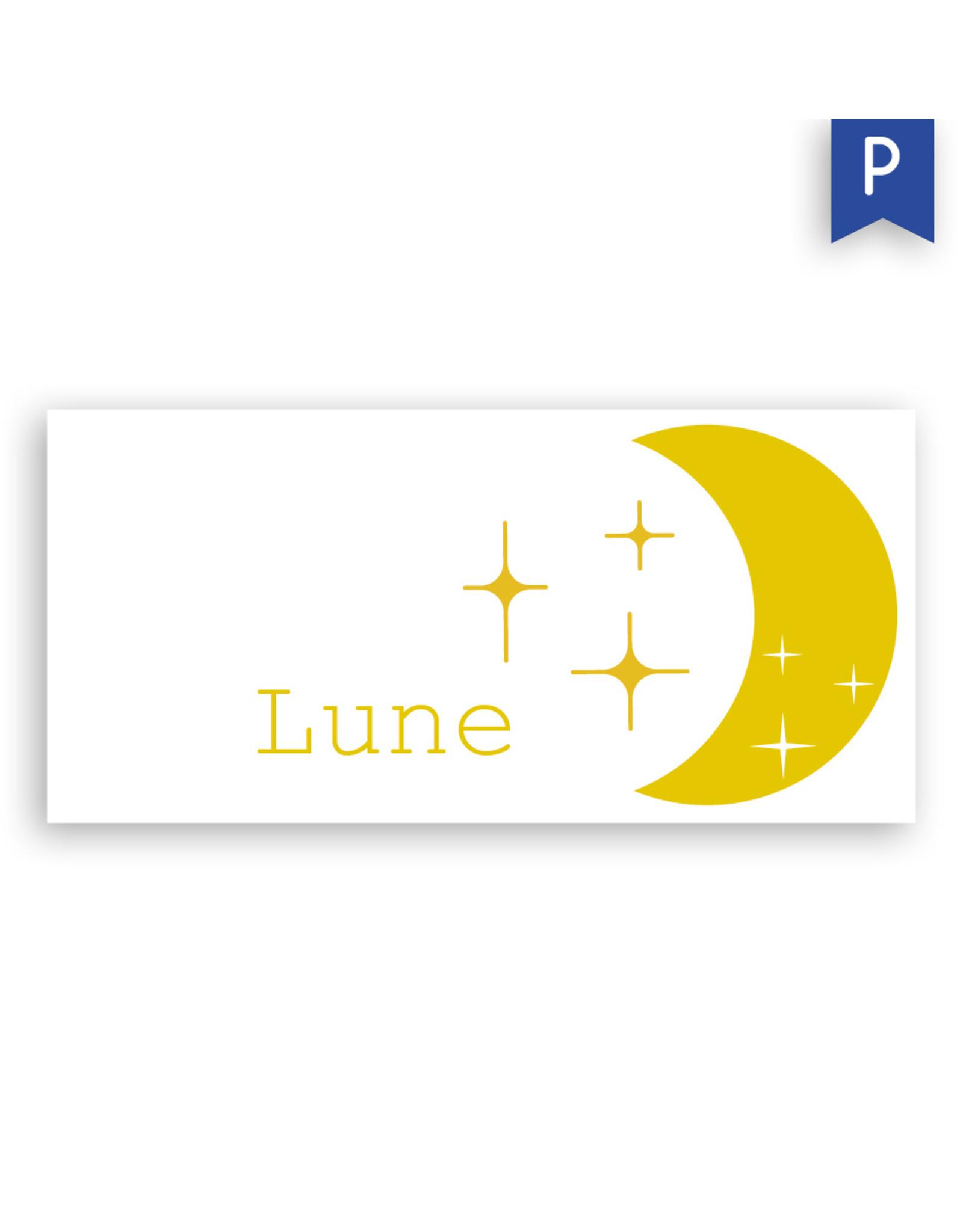 www.Robin.cards Geboortekaartje premium enkel lang LUNE