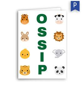 www.Robin.cards Geboortekaartje premium gevouwen rechthoek OSSIP