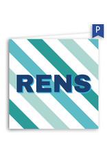 www.Robin.cards Geboortekaartje premium gevouwen vierkant RENS