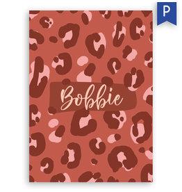 www.Robin.cards Geboortekaartje premium enkel rechthoek BOBBIE