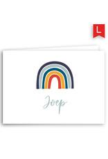 www.Robin.cards Geboortekaartje luxe rechthoek gevouwen JOEP