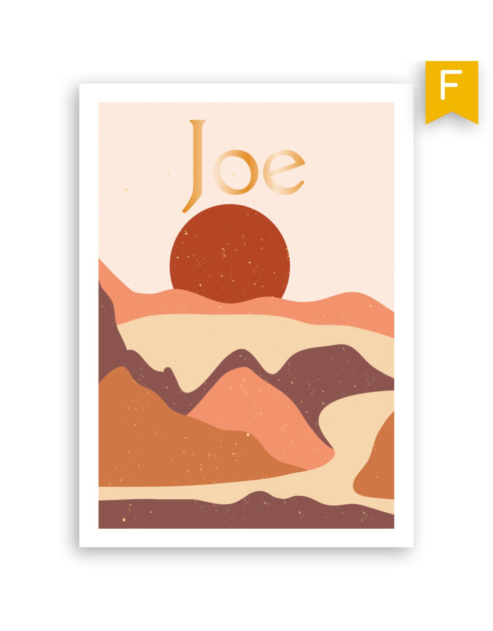 www.Robin.cards Geboortekaartje foliedruk enkel rechthoek JOE
