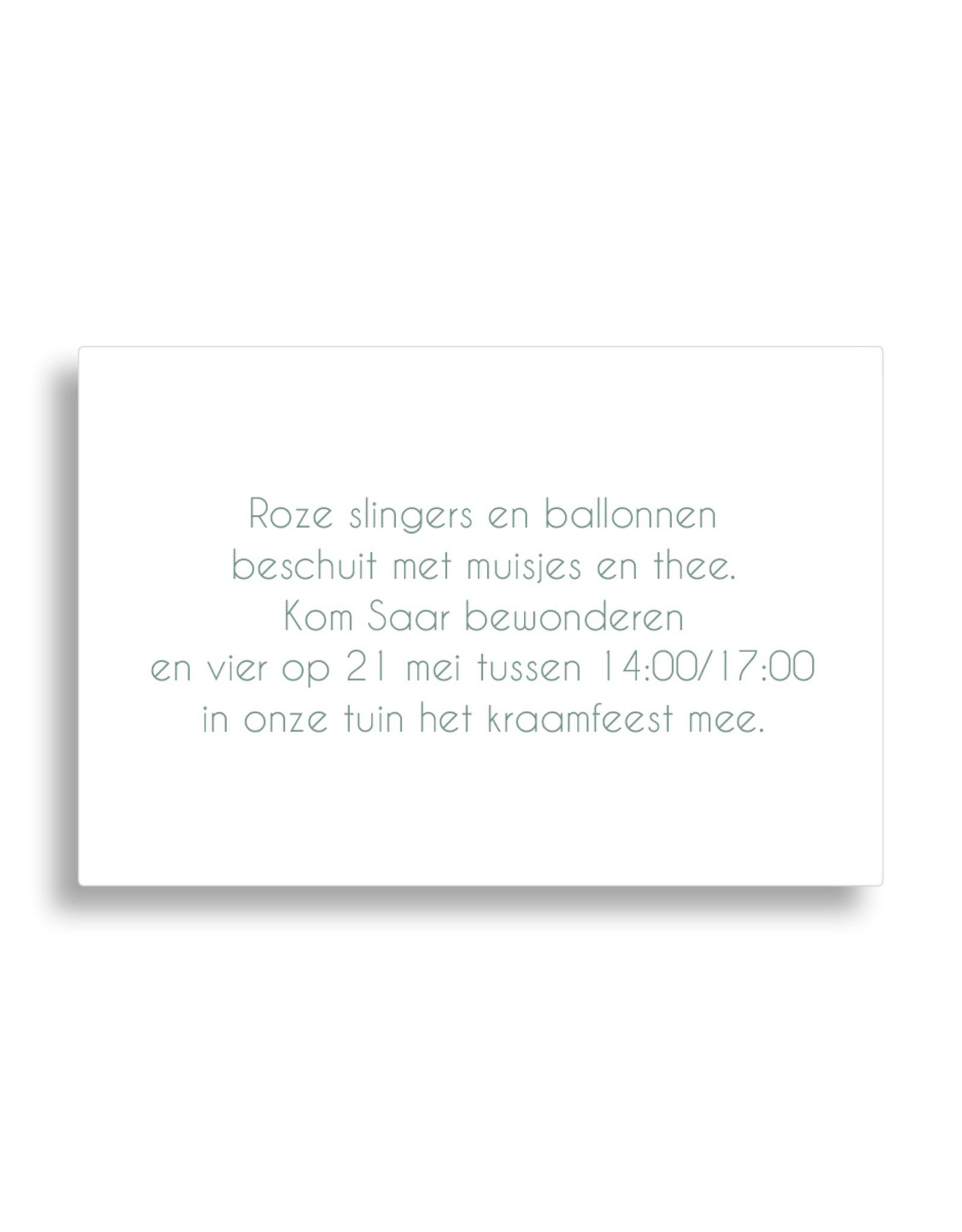 www.Robin.cards Babyborrel enkel rechthoek SAAR