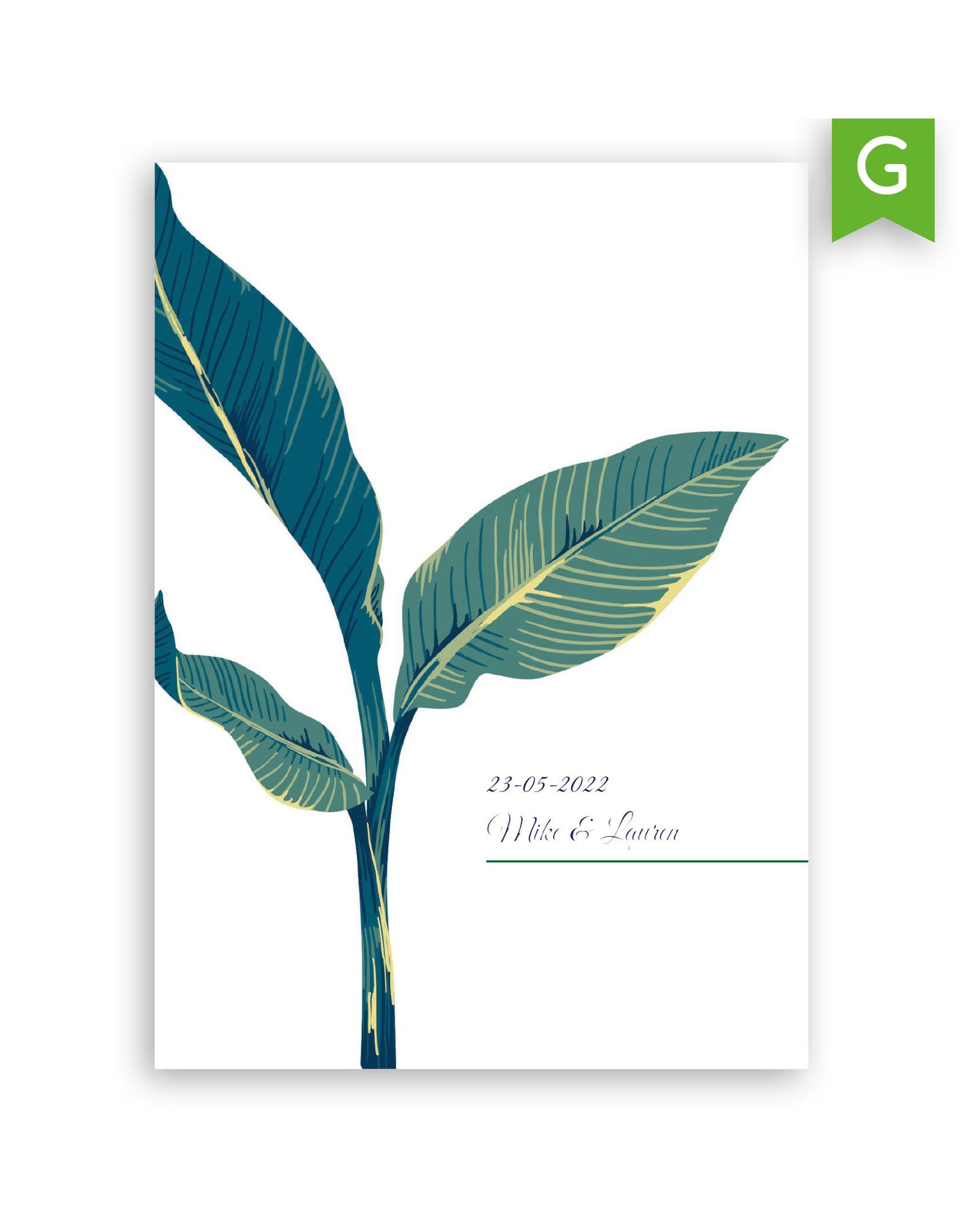 www.Robin.cards Trouwkaarten gratis enkel rechthoek MIKE en LAUREN