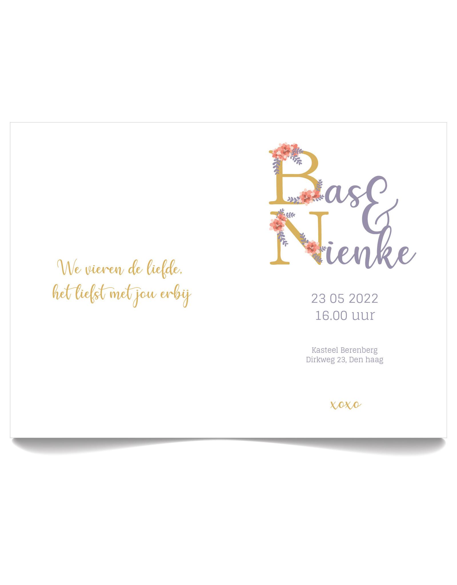 www.Robin.cards Trouwkaarten gratis gevouwen rechthoek BAS en NIENKE