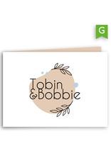 www.Robin.cards Trouwkaarten gratis gevouwen rechthoek Tobin en Bobbie