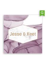 www.Robin.cards Trouwkaarten gratis enkel vierkant JESSE en KEET