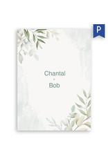 www.Robin.cards Trouwkaarten premium enkel rechthoek Chantal en Bob