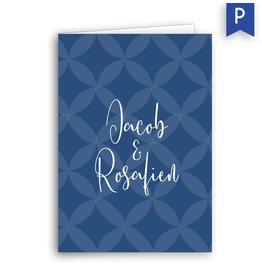 www.Robin.cards Trouwkaarten Premium gevouwen rechthoek Jacob en Rosafien