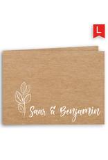 www.Robin.cards Trouwkaarten luxe rechthoek gevouwen Saar en Benjamin